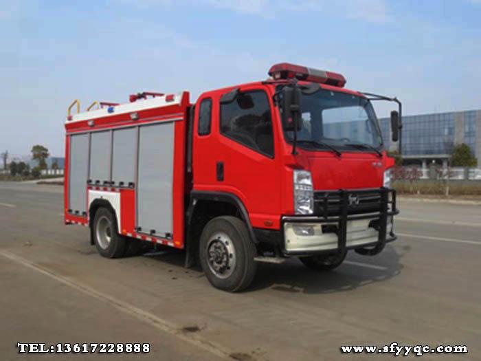JDF5101GXFSG30型四驱水罐消防车